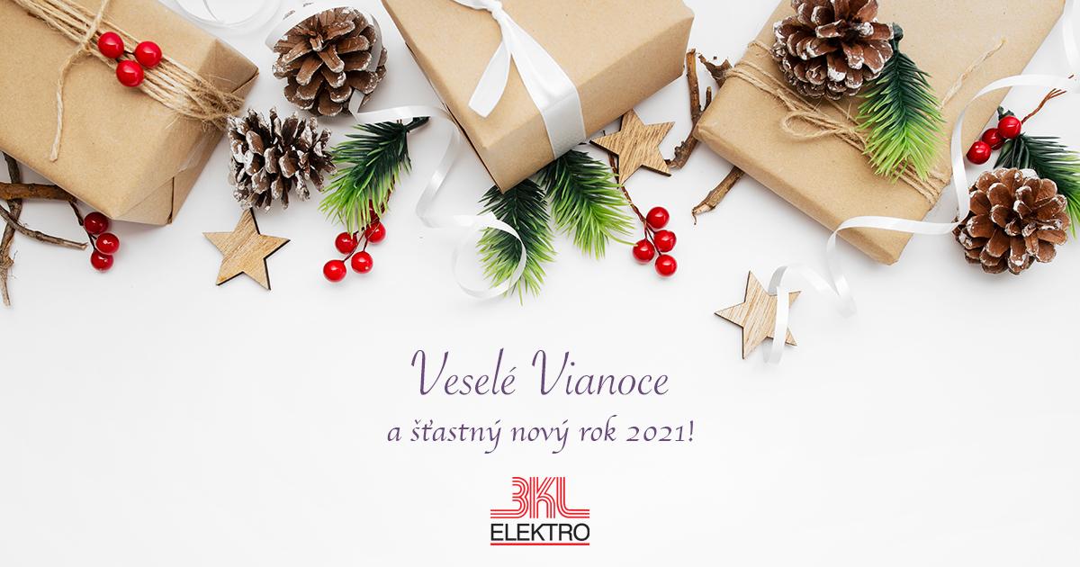 BKL ELEKTRO - Prajeme Vám Veselé Vianoce a šťastný nový rok 2021!
